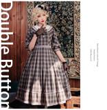 Bitter Sweet -Double Button- Classic Casual Lolita OP Dress