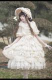 Rose Garden Gorgeous Princess Lolita OP Dress and Bonnet Set