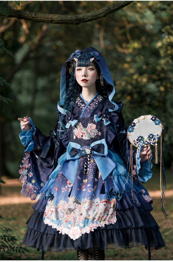 Sakya Lolita -Sakura Dream- Wa Embroidery Lolita Blouse
