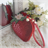 Morning Glory - Straberry Lolita Crossbody Handbag and Purse Bag(Big Version, Middle Version and Small Version)
