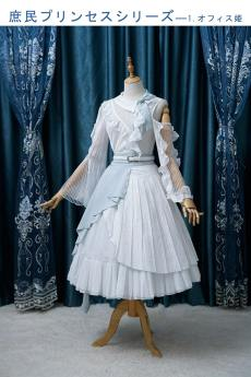 Fantastic Wind -Office Lady- Casual Lolita Skirt and Matched Blouse
