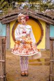 Chemical Romance -The Baguelle- Sweet Lolita Salopettes and Bread Hairclip Set
