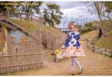 Chemical Romance -The Baguelle- Sweet High Waist Lolita OP Dress and Bread Hairclip Set