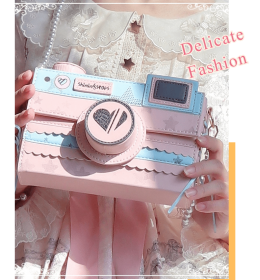 The Camera Sweet Pink Lolita Crossbody Bag