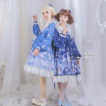 Cat Can -Duck in Rainy Day- Sweet Casual High Waist Lolita OP Dress