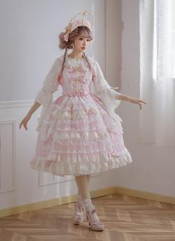 Little Dipper -Luna Courtyard- Tea Party Princess Lolita JSK