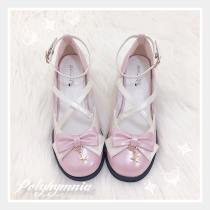 Polyhymnia -Moon and Star- Middle Heel Round Toe Lolita Shoes