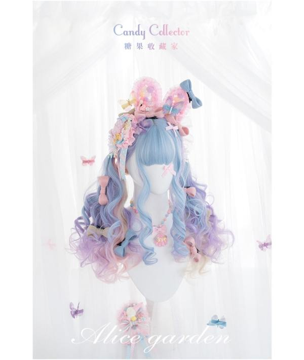 Alice Garden - 67cm Long Pastel Colorful Curly Wavy Lolita Wig