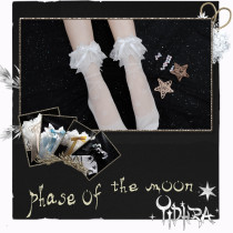 Yidhra -Phase of the Moon- Lolita Ankle Length Socks with Lacing