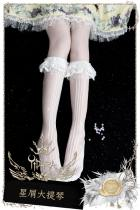 Yidhra -Stardust Cello- 40cm Long Shank Length Lolita Socks for Summer