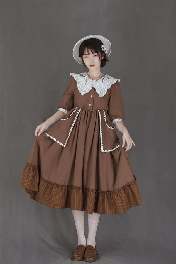 Withpuji -The Laurel- Casual High Waist Lolita OP Dress