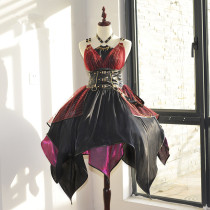 Doirs Night -The Locomotive Girl- Punk Lolita JSK, Overskirt and Corset Set