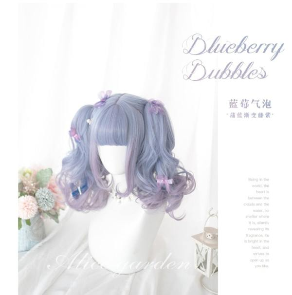 Alice Garden -Light Purple Lolita 30cm Bobo Wig and 32cm Pigtail
