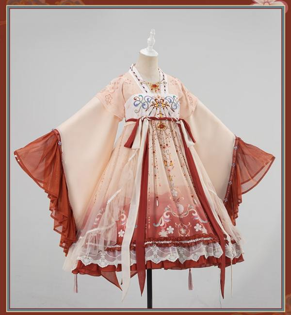 Uwowo -Revlon- Qi Lolita Blouse and Skirt Set