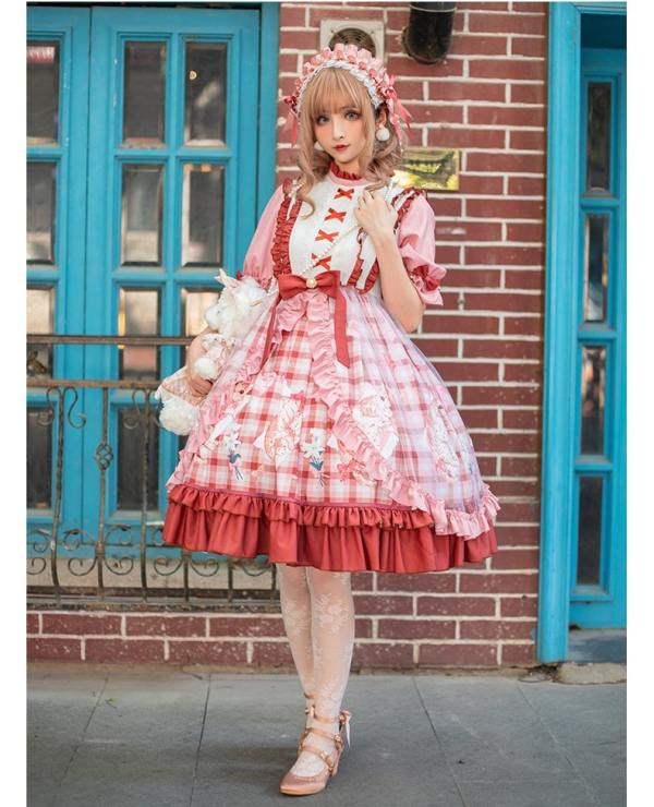 Yinluofu -The Cat in the Afternoon- Sweet Lolita OP Dress and Headband Set