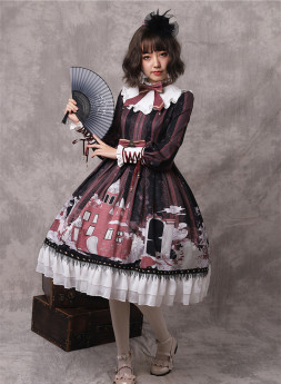 Yinluofu -The Girl in Snow Country- Sweet Lolita Full Set
