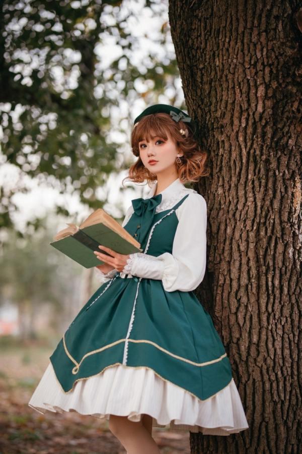 Cyan Lolita -Wordless Poetry- Classic Lolita JSK