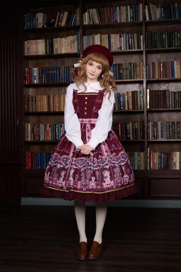 Neverland -Chocolate Bears- Sweet Lolita JSK