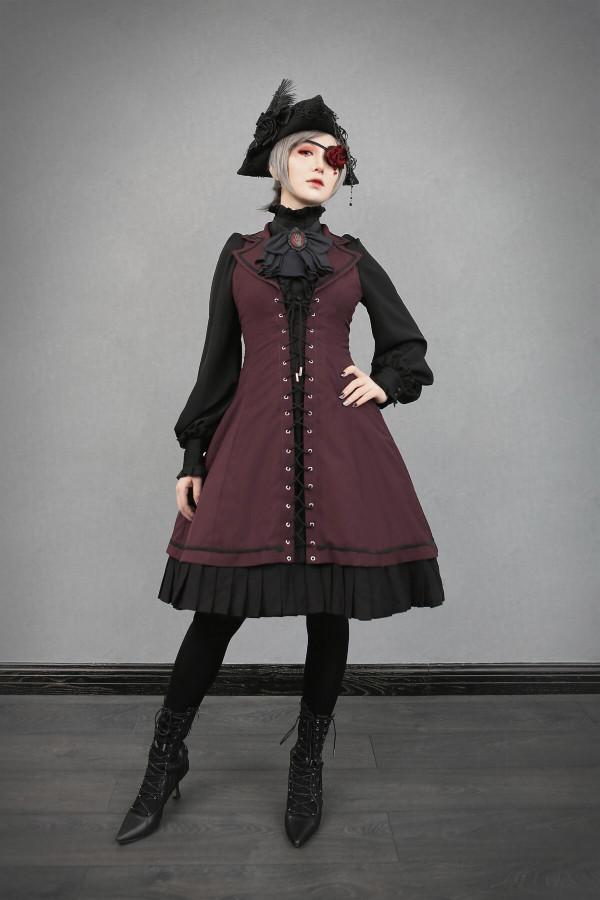 Foxtrot Lolita -Flange Pledge- Gothic Halter Neckline Lolita JSK
