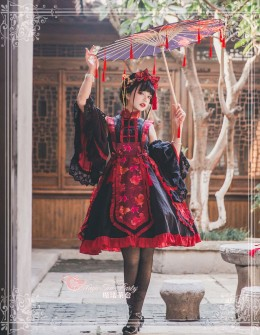 Magic Tea Party -The Dream of Free Fish- Qi Lolita JSK With Detachable Sleeves