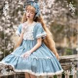 NyaNya -Sleeping Flower- Casual High Waist Lolita OP Dress
