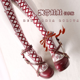 Red Maria -Cotton Lolita Stocking for Spring and Autumn