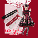 Red Maria -Cherry and Chocolate Lolita Tights for Spring and Autumn
