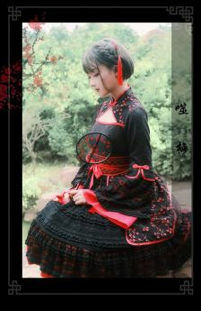 Milu Orig -Swallow Plum Blossoms- Qi Lolita OP Dress