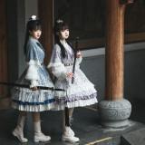 Swordman Qi Lolita Long Jacket and Matched Skirt