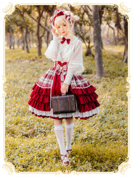 Mofina -The Cranberry- Sweet Lolita Skirt