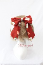 Alice Girl -The Strawberry- Christmas Lolita Hairclip
