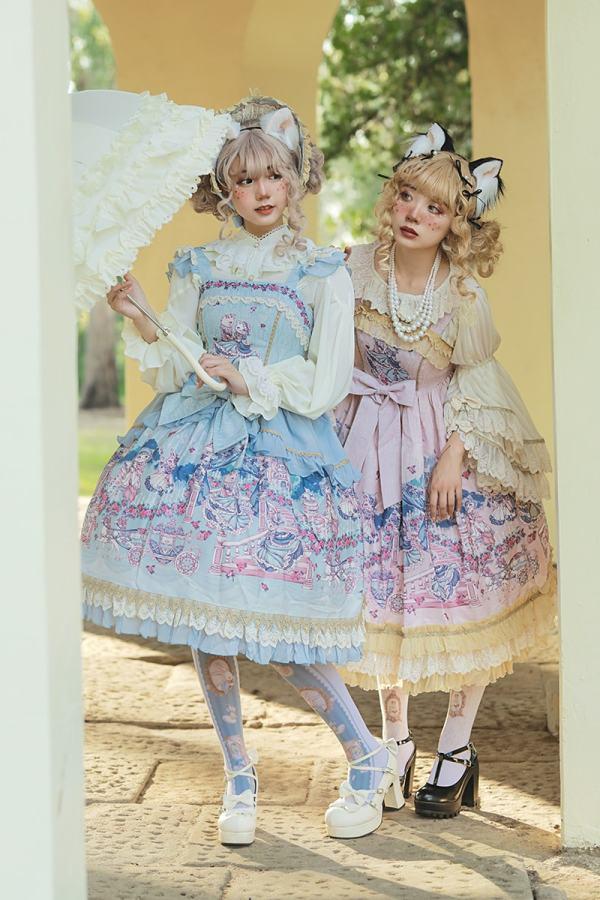 Infanta -Cinderella Cat- Sweet Normal Waist Lolita JSK