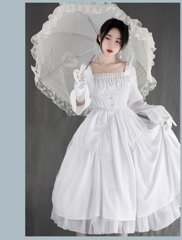 Withpuji -Classic Casual Lolita OP Dress