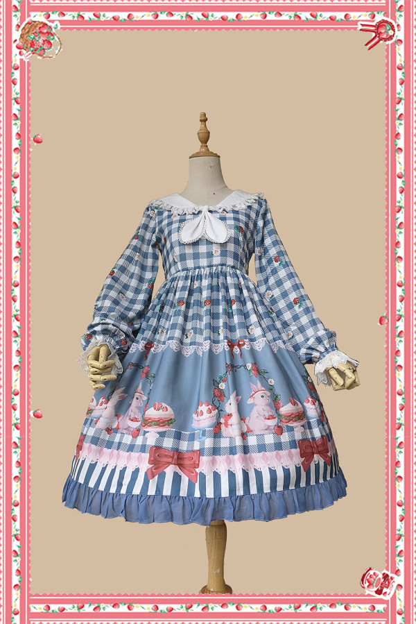 Infanta -Picnic with Rabbit- Sweet High Waist Lolita OP