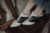Pointed Toe 4.8cm Chunky Heel Classic Vintage Lolita Shoes