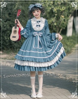 Eieyomi -Miss Rabbit LoLo- Sweet Lolita OP Dress