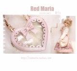 Red Maria - Two Layer Heart Shaped Lolita Crossbody Handbag