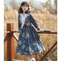 Withpuji -Mr Rabbit- Casual Lolita Coat OP Dress