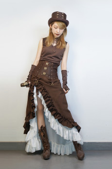Steam Punk High Waist Lolita Skirt