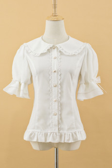 Rotate Ballet -Little Bear Sweet Handle- Chiffon Puffy Sleeves Lolita Blouse