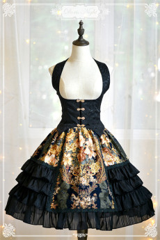 Doris Night -The Night Rose- Gothic Lolita Skirt and Vest