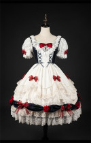 Snow White Princess Lolita OP Dress and Headband Set
