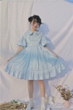 Labeau -Isabella- Classic Casual Puffy Sleeves Lolita OP Dress(Version II)