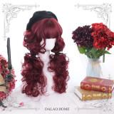 Dalao -Red Velvet- Dark Red Long Curly Lolita Wig