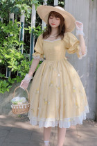 Ruby Rabbit -Summer Wind- Classic Casual Lolita OP Dress
