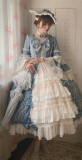 Henrietta -The Romantic- Flare Long Sleeve Vintage Rococo Lolita OP One Piece Dress