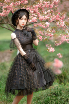 Withpuji -The Ripples- Qi Lolita OP Dress