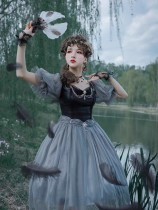The Dying Swan Elegant Gothic Lolita OP Dress