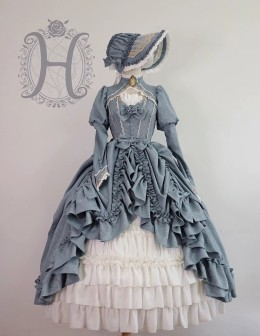 Henrietta -Moonlight Of Britain- Tea Party Princess Rococo Lolita OP Dress