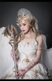 Astoria Lolita Angel Crown and Evil Dragon Horn Headband